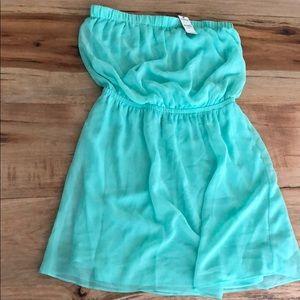 Mint green NWT strapless mini dress